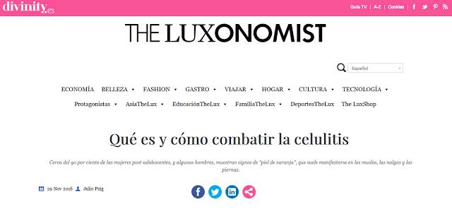 Alidya® tratamiento recomendado para la celulitis en The Luxonomist