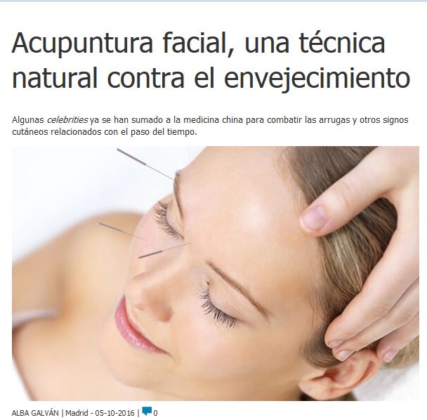 Acupuntura facial en medicina estética