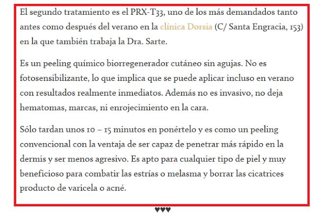 PRX-T33® Tratamiento recomendado para preparar la piel para el verano