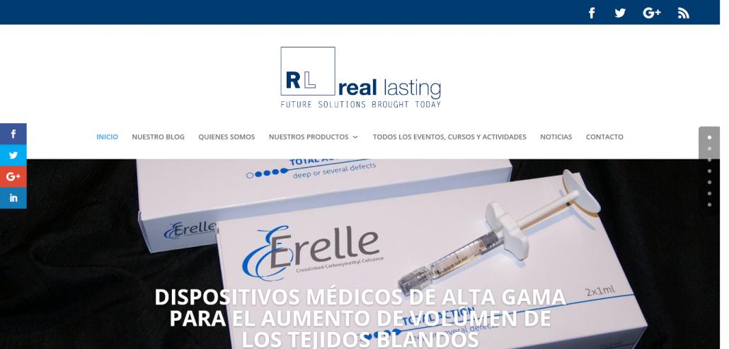 Real Lasting presenta su nueva página web