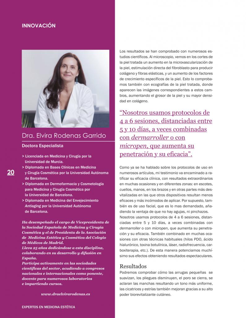 PRX-T33 protagonista en la revista Expertos en Medicina Estética