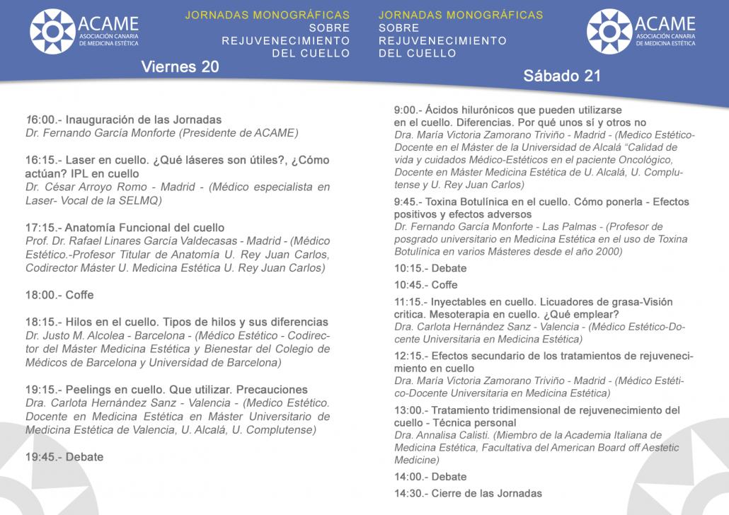 Nuevas Jornadas Formativas en ACAME y AMEM